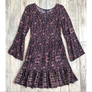American Eagle | Boho Floral Print Dress Small